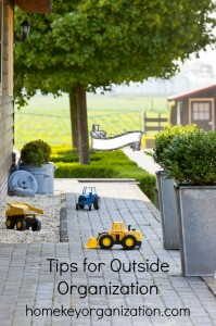 Outdoor Toy Organizing
