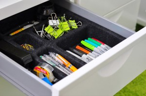 desk drawer organizing