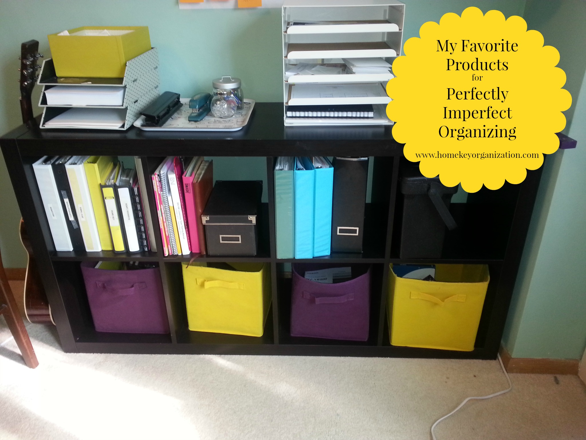 My Favorite Organizing Product– Fabric Bins