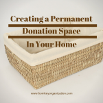 creating a donation space in your home