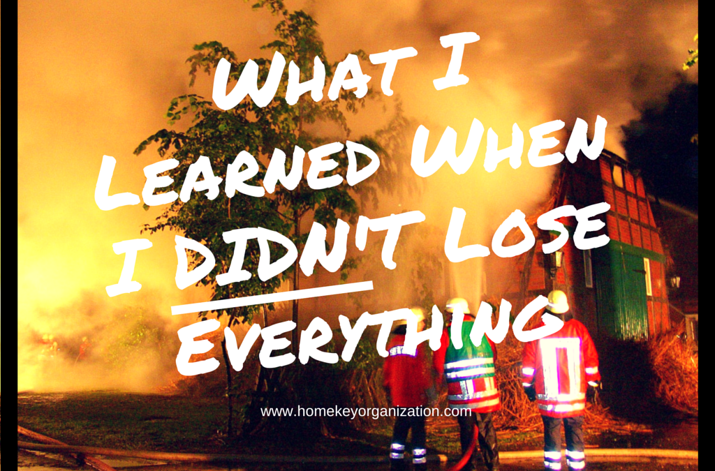 What I Learned When I DIDN'T Lose Everything