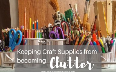 Keeping Craft Supplies from becoming Clutter